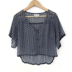 Band of Gypsies Button Up Crop Top